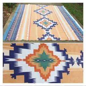 Vintage Aztec Southwestern Camping Fest Blanket